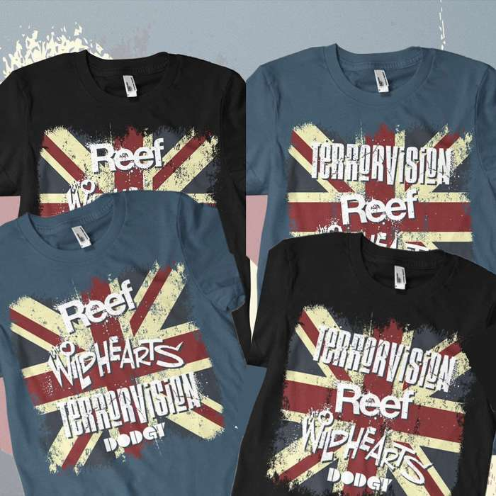 'Britrock Must Be Destroyed' Tour Shirt Bundle - Omerch