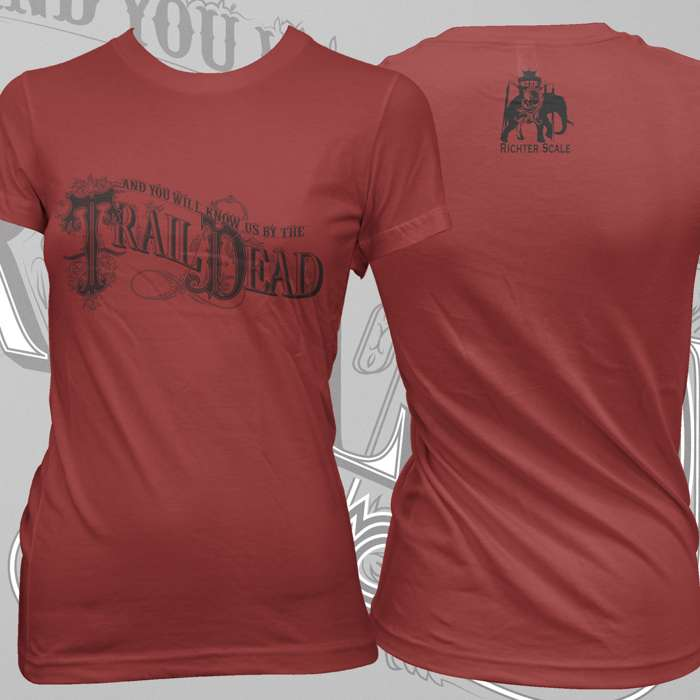 ...And You Will Know Us By The Trail Of Dead -  Red Logo Fitted T-Shirt - Omerch