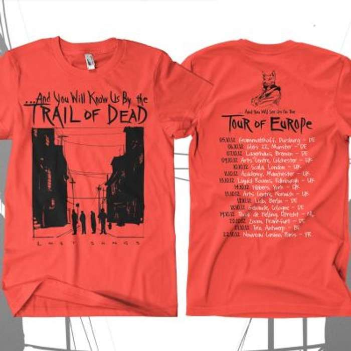 ...And You Will Know Us By The Trail Of Dead -  Russian Tour Red T-Shirt - Omerch