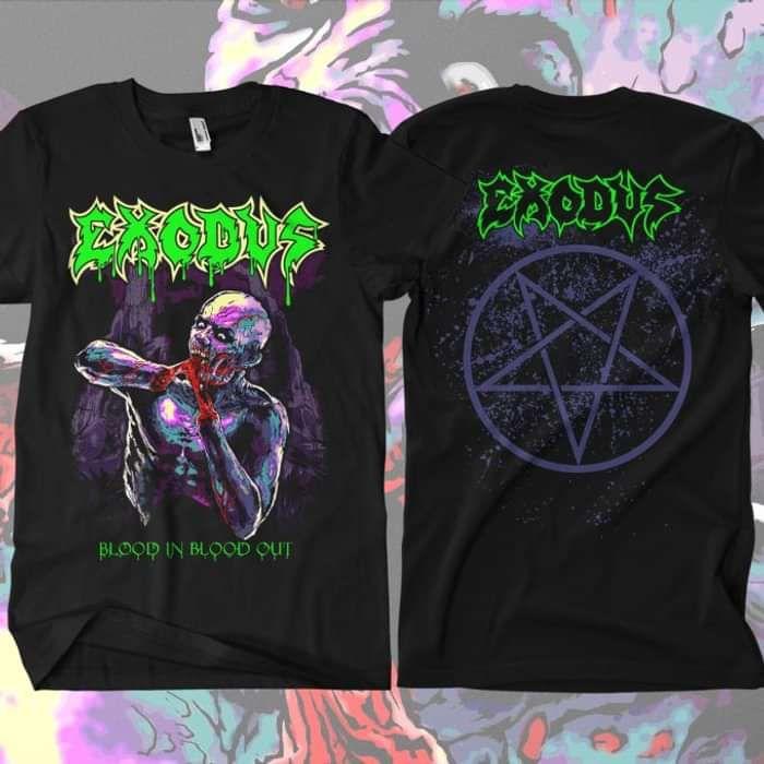 Exodus - Black Magic Black T-Shirt - Omerch