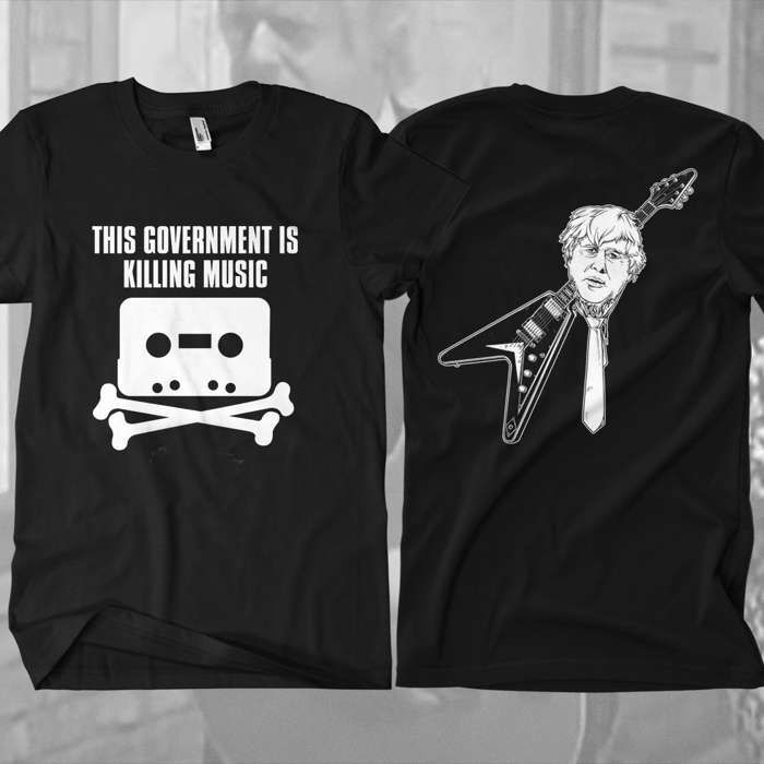 This Government Is Killing Music T-Shirt - Omerch
