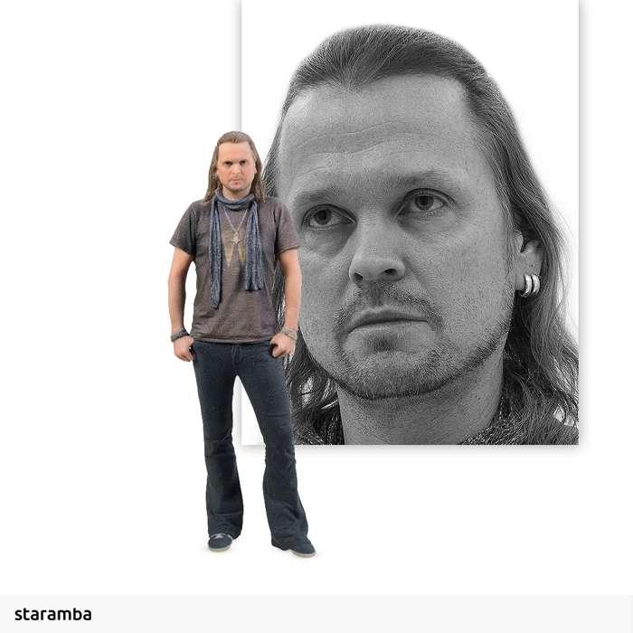 Joakim Svalberg - 7cm 3D Printed Figure - Opeth
