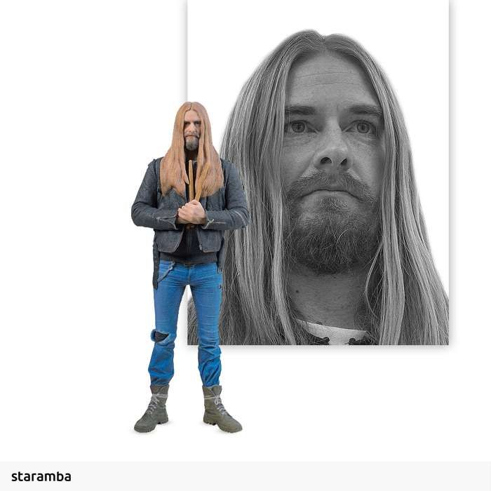 Martin Axenrot - 7cm 3D Printed Figure - Opeth