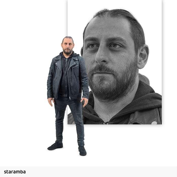 Martin Mendez - 7cm 3D Printed Figure - Opeth