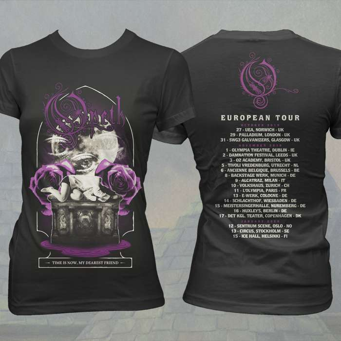 Opeth - 'Hand in Heart' 2019 Fitted Tour T-Shirt - Opeth