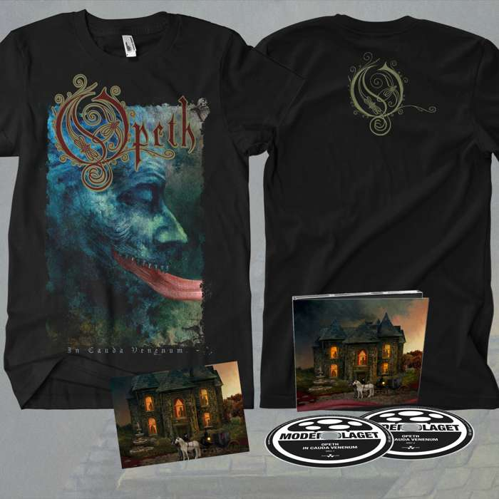 Opeth - 'In Cauda Venenum' 2CD Digipack + FREE POSTCARD + T-Shirt Bundle - Opeth