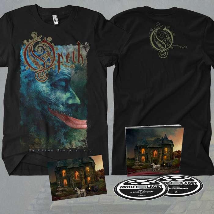 Opeth - 'In Cauda Venenum' 2CD Digipack + FREE SIGNED POSTCARD + T-Shirt Bundle - Opeth