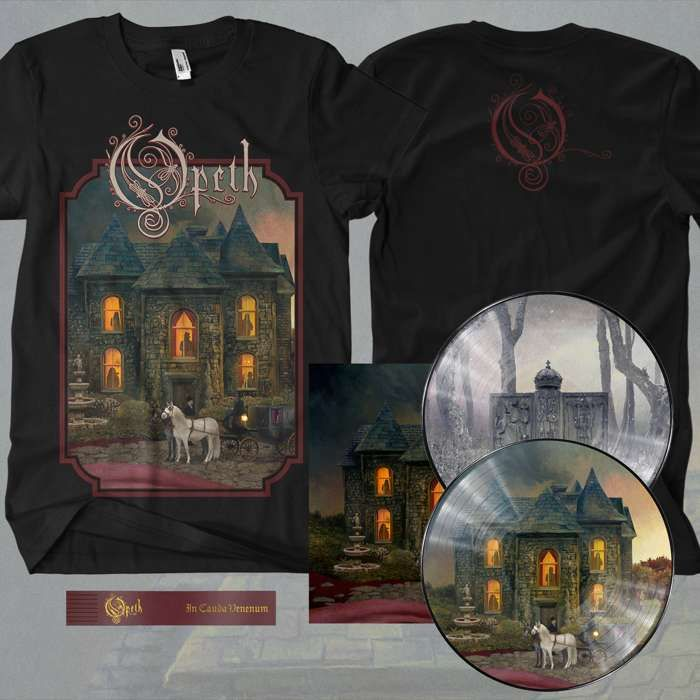 Opeth - 'In Cauda Venenum' 2LP Picture Disc + FREE BOOKMARK + T-Shirt Bundle - Opeth