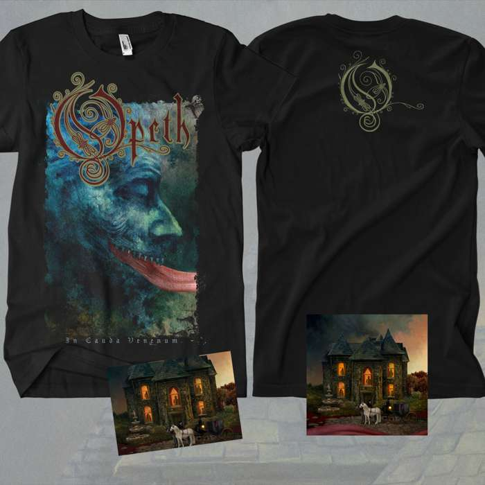 Opeth - 'In Cauda Venenum' English Edition CD + FREE SIGNED POSTCARD + T-Shirt Bundle - Opeth