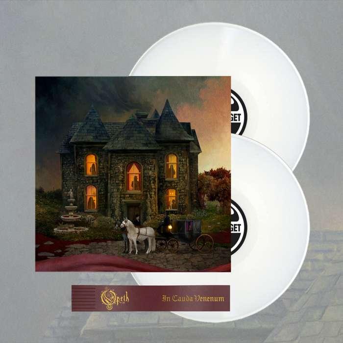 Opeth - 'In Cauda Venenum' *EXCLUSIVE* Swedish Edition 2LP White Vinyl + FREE BOOKMARK - Opeth