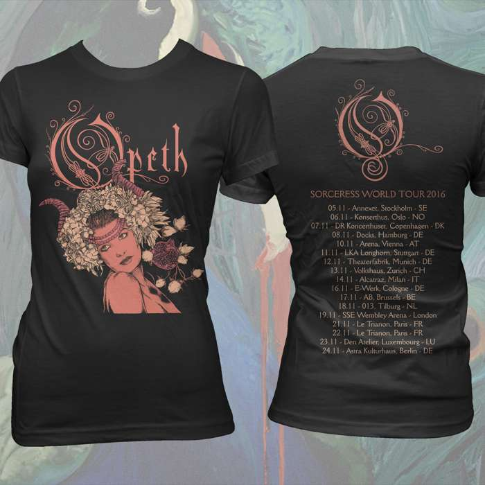 Opeth - Persephone Tour Fitted T-Shirt - Opeth