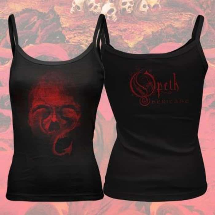 Opeth - 'Skull' Girls Vest Top - Opeth