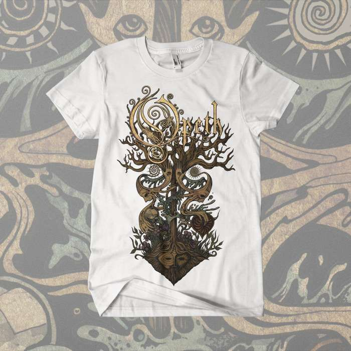 Opeth - 'Tree' White T-Shirt - Opeth