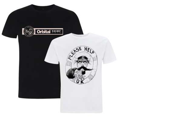 2 for 1 Deal: Black Chime T-Shirt & White PHUK T-Shirt - Orbital