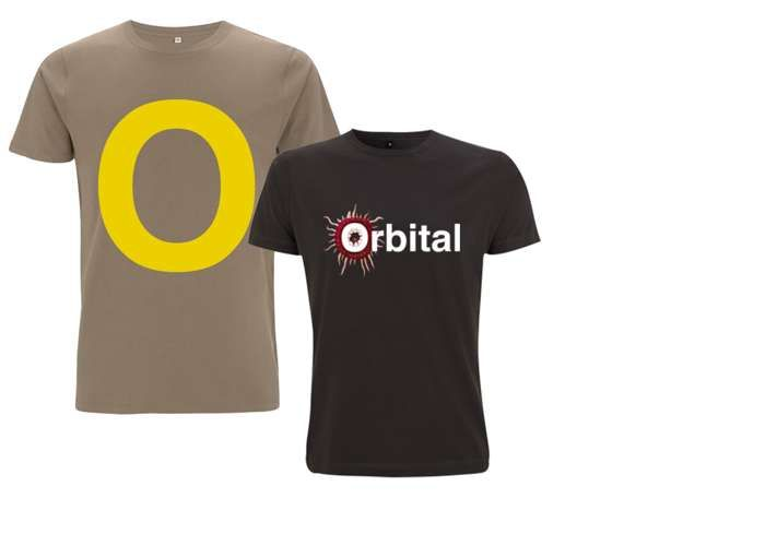 2 for 1 Deal: Walnut O T-Shirt & Black Monsters Exist Logo Tour T-Shirt - Orbital