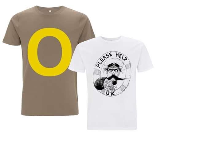 2 for 1 Deal: Walnut O T-Shirt & White PHUK T-Shirt - Orbital