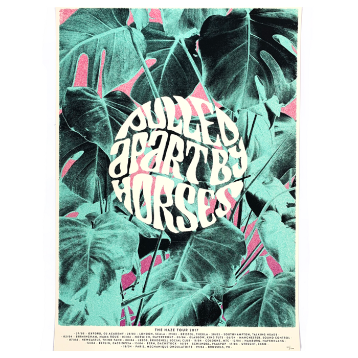 Haze Tour / Screenprint - Pulled Apart By Horses