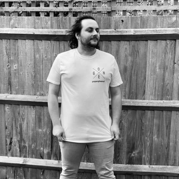 """Gone"" cross logo t-shirt - Paperfriend"