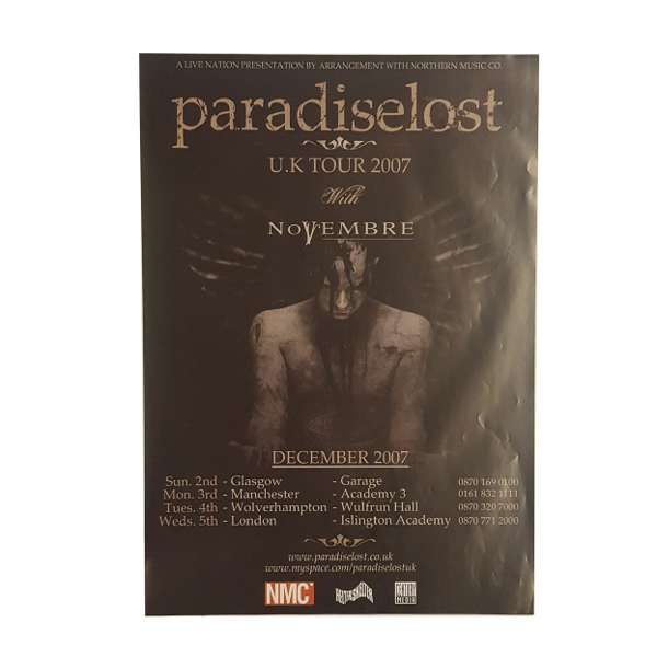 Paradise Lost -  In Requiem 2007 Poster - Paradise Lost