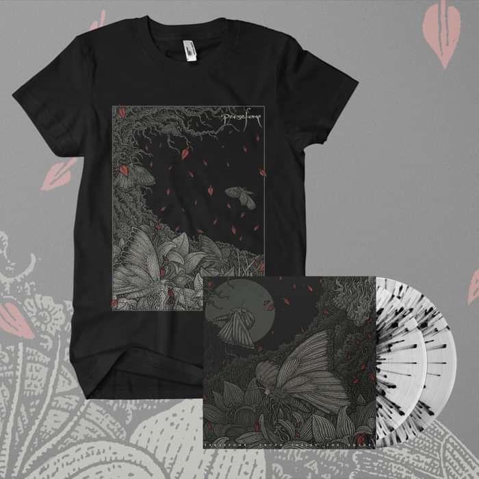Persefone - 'Truth Inside The Shades' 2LP Black Splatter Vinyl + Black T-Shirt Bundle - Persefone