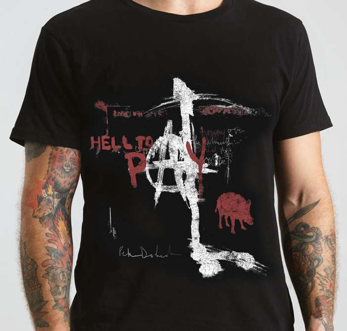 'Hell To Pay' T Shirt Black - Peter Doherty