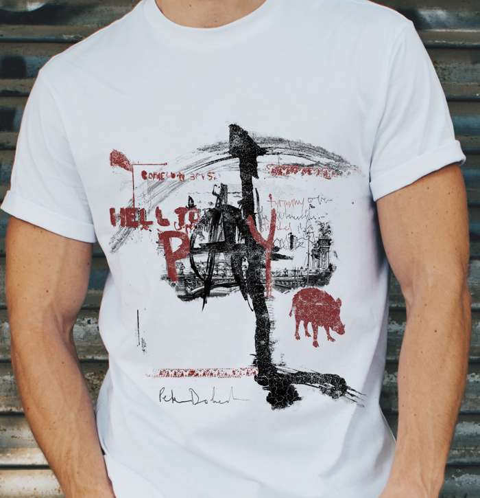 'Hell To Pay' T Shirt White - Strap Originals Ltd/Peter Doherty
