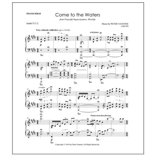Sheet Music - Peter Vantine