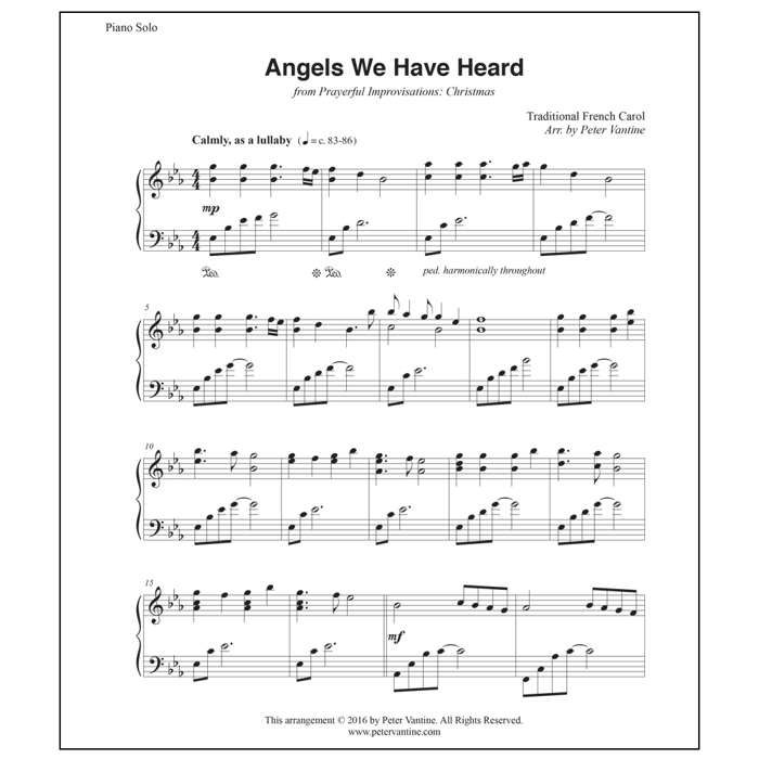 NEW - Angels We Have Heard (sheet music download) - Peter Vantine