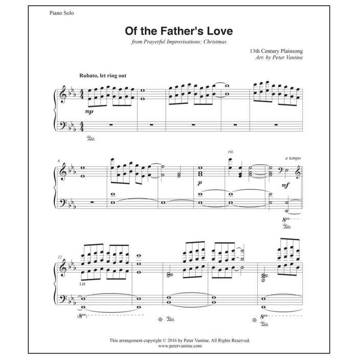 NEW - Of The Father's Love (sheet music download) - Peter Vantine