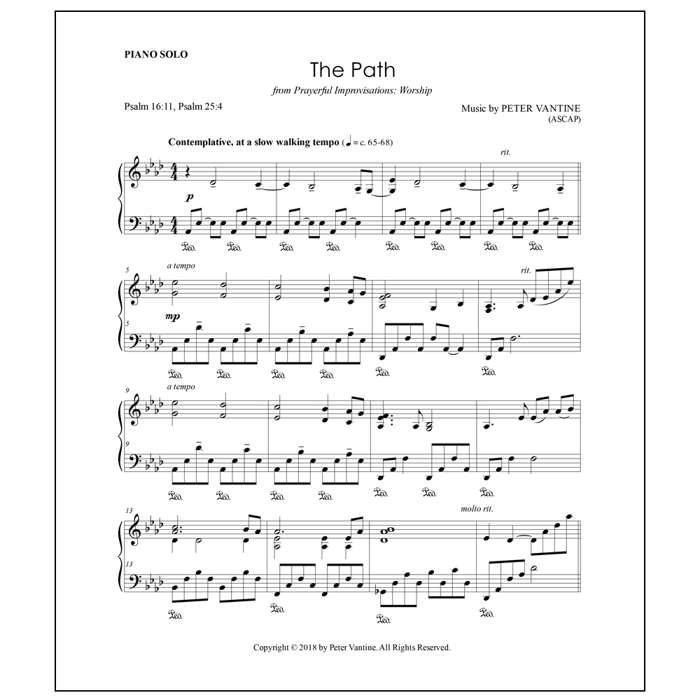 The Path (sheet music download) - Peter Vantine