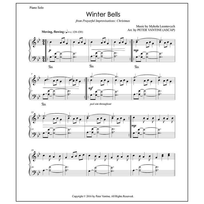 Winter Bells (sheet music download) - Peter Vantine