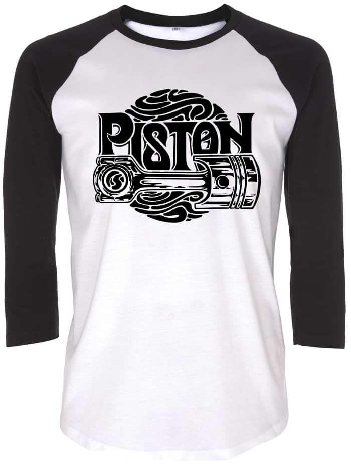 Piston B&W Baseball Raglan - Piston