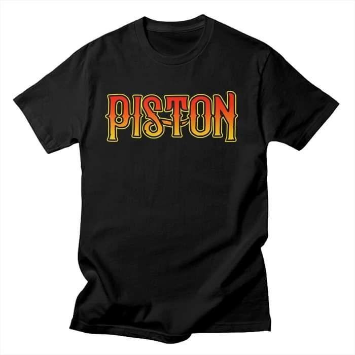 Piston Black T Shirt - Mens - Piston