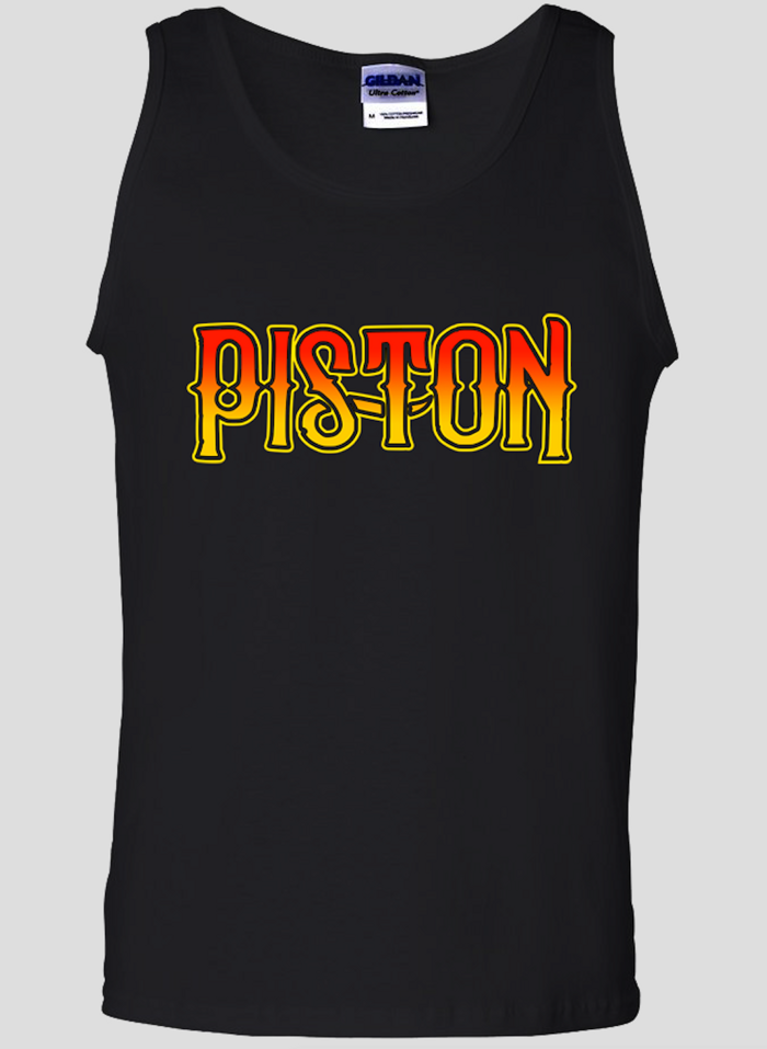 Piston Black Vest - Mens - Piston