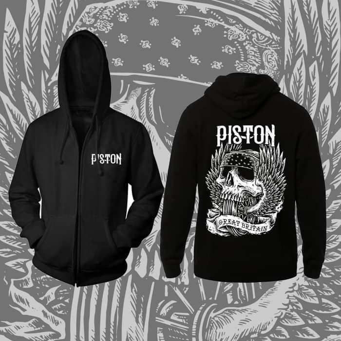 Piston Great Britain Skull Hoodie - Piston