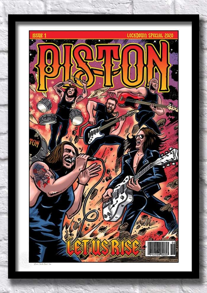 Piston Limited Edition Artist Print (100 copies) + FREE Shipping - Piston