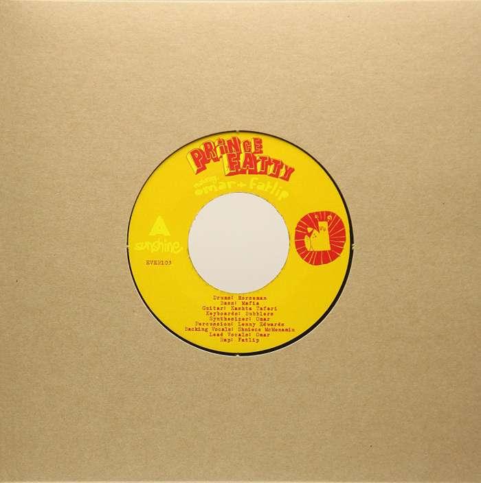 "Prince Fatty - Sunshine ft Omar & Fatlip - 7"" Vinyl + free MP3 download - Prince Fatty"