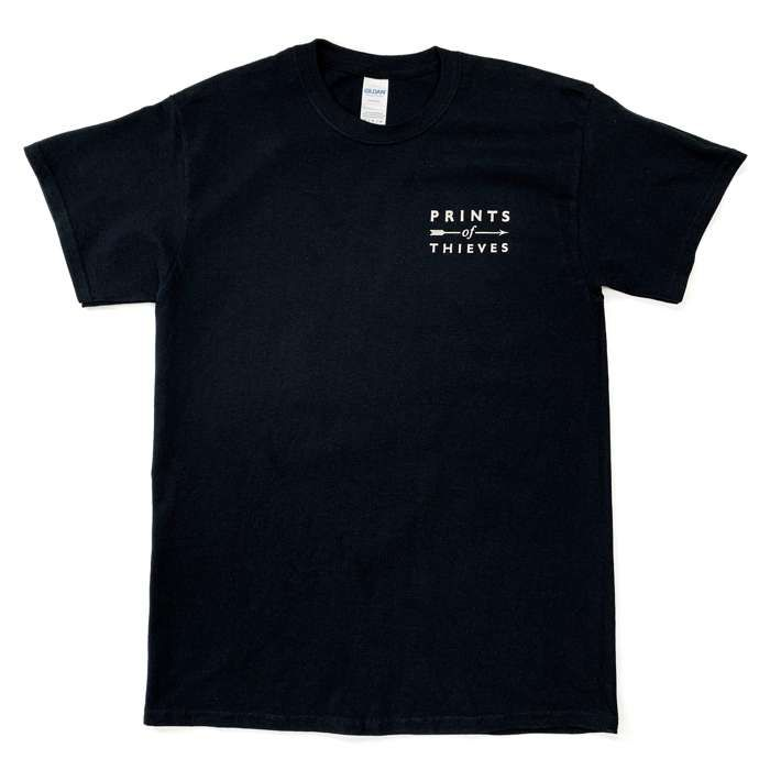 Short Sleeve T-Shirt. (w/breast and back print) - Prints of Thieves