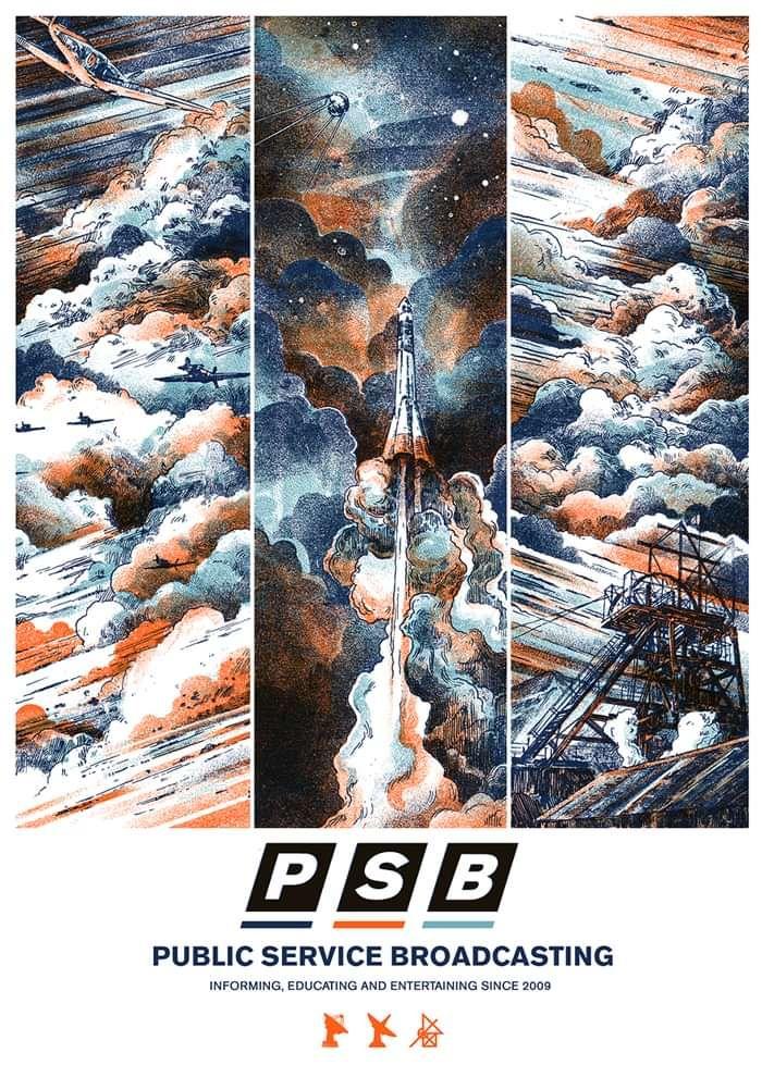 Triptych 2021 limited edition (v2) screenprint - PUBLIC SERVICE BROADCASTING