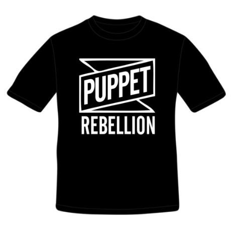 Men's Black Logo T-Shirt - Puppet Rebellion