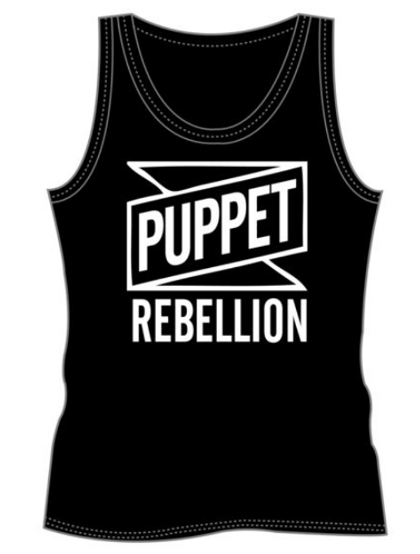 Women's Black Logo Tank Top - Puppet Rebellion