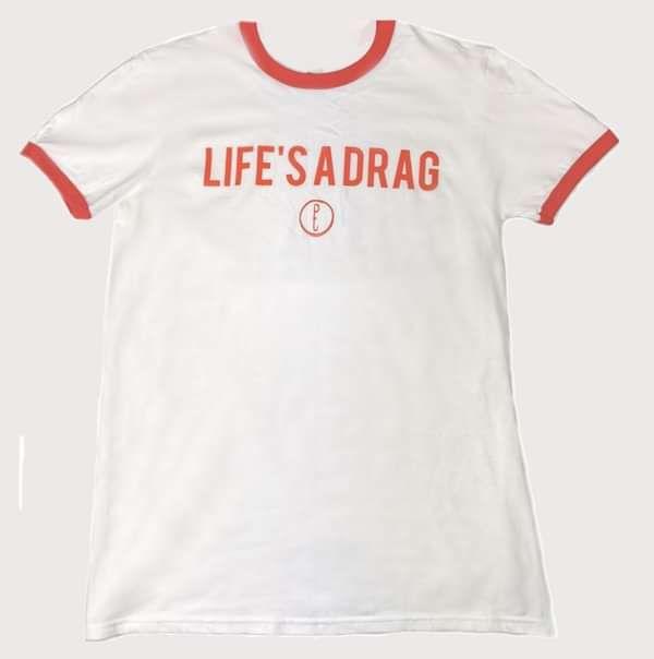 Life's A Drag T-Shirt - Purple Thread