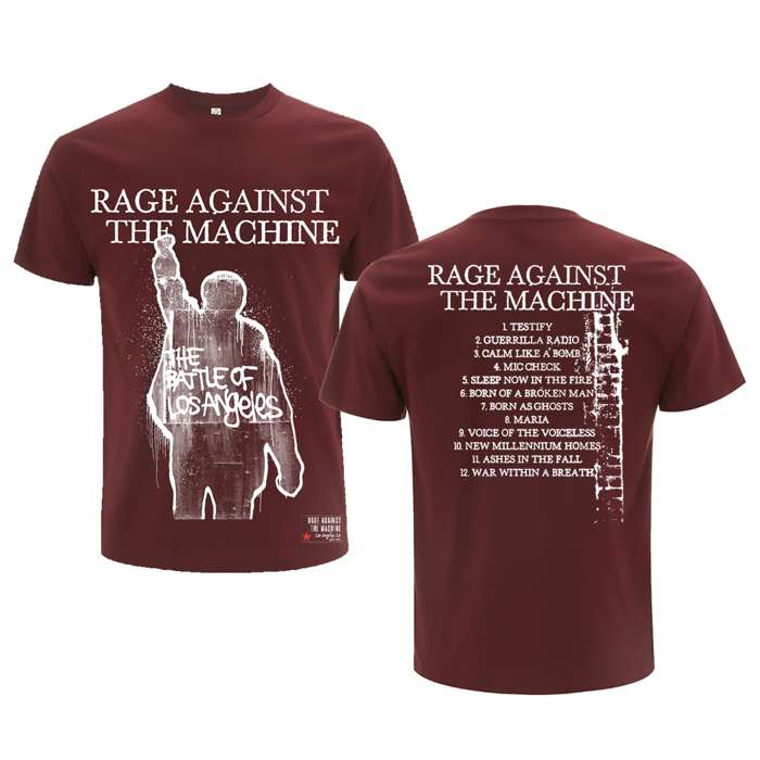 BOLA Album Cover Tracks – Maroon Tee - Rage Against the Machine