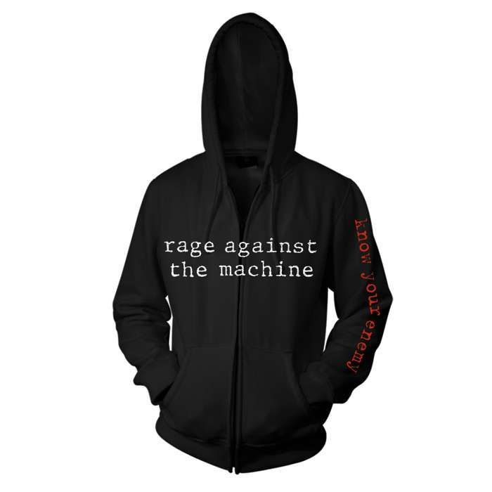 Know Your Enemy Black Zip Hood - Rage Against the Machine