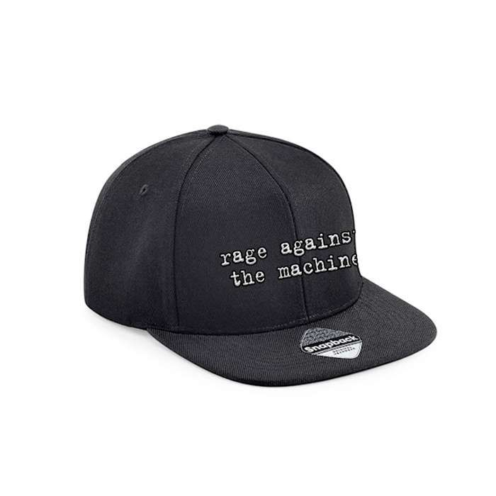 Logo – Embroidered Snapback Cap - Rage Against the Machine