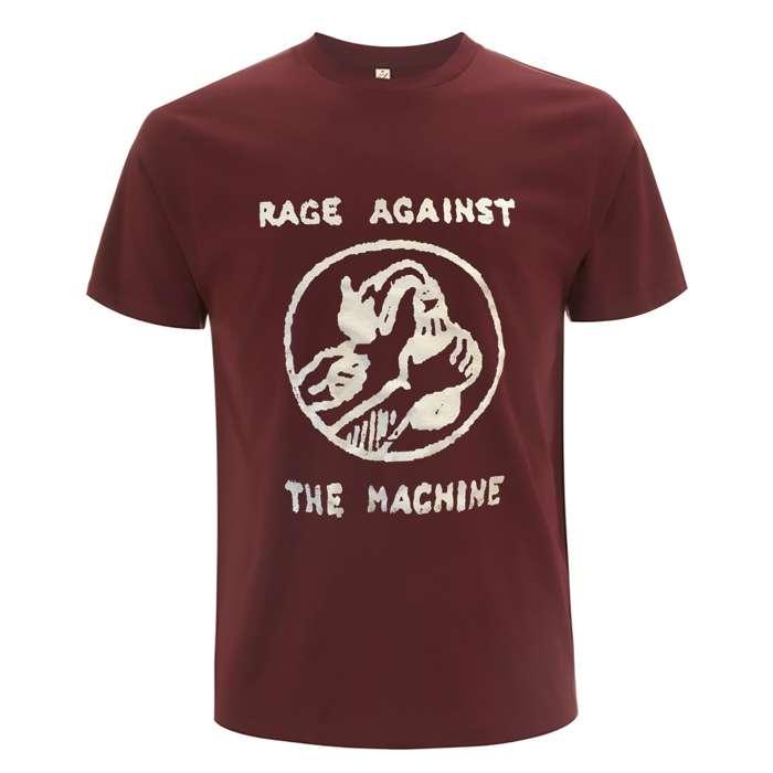 Molotov & Stencil – Maroon Tee - Rage Against the Machine