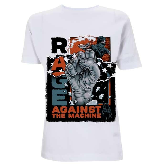 Molotov Fist – White Tee - Rage Against the Machine