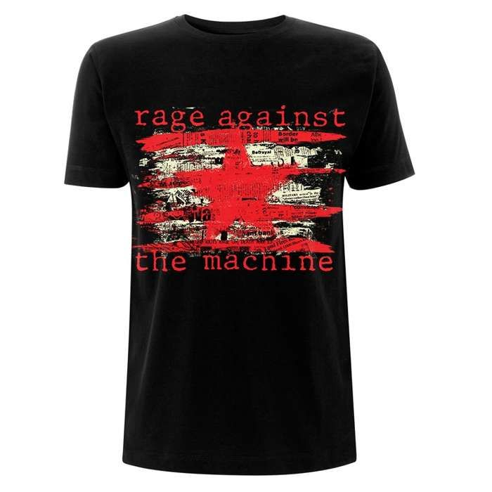 Newspaper Star – Black Tee - Rage Against the Machine