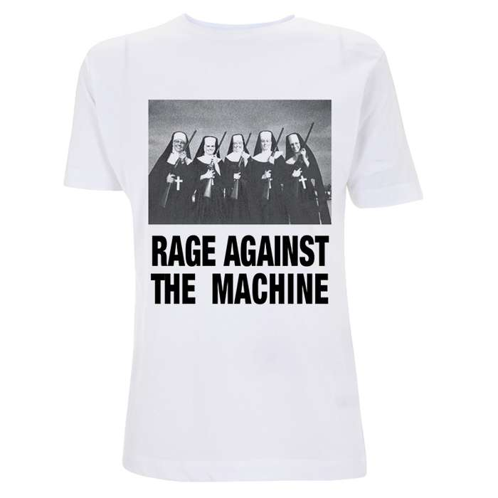 Nuns And Guns – White Tee - Rage Against the Machine