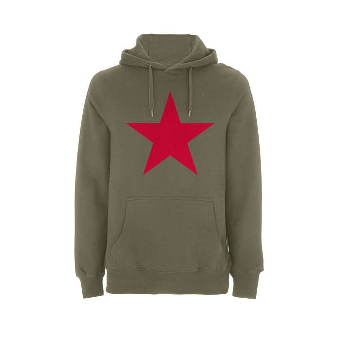 RATM – Red Star Olive Pullover hood - Rage Against the Machine